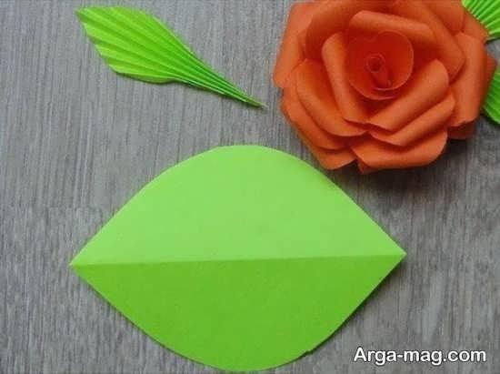 کاردستی زیبا گل کاغذی