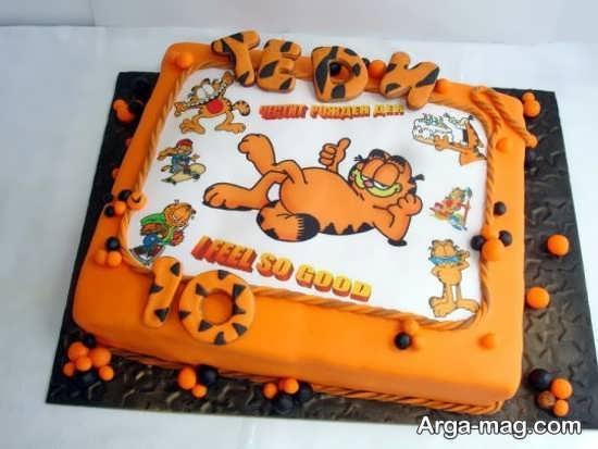 تزئین کیک تولد گارفیلد