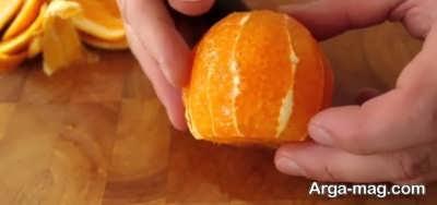 پوست گرفتن پرتقال جهت تهیه مربای پرتقال