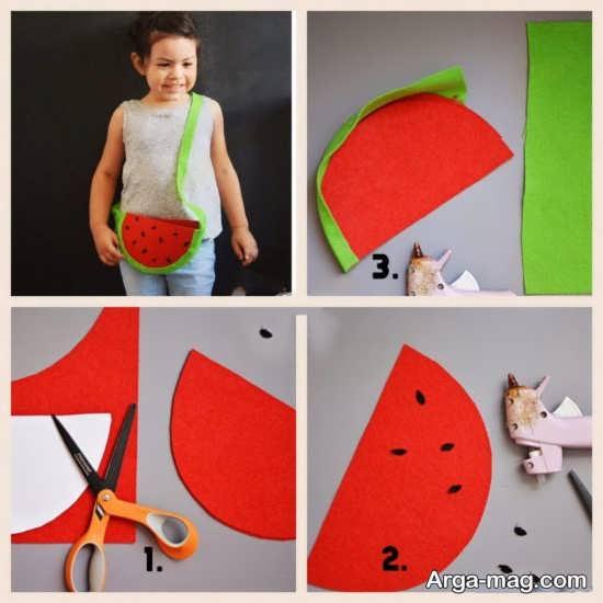 ساخت کیف هندوانه ای برای کودکان
