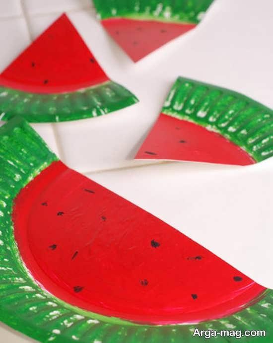 ساخت هندوانه با پیش دستی یک بار مصرف