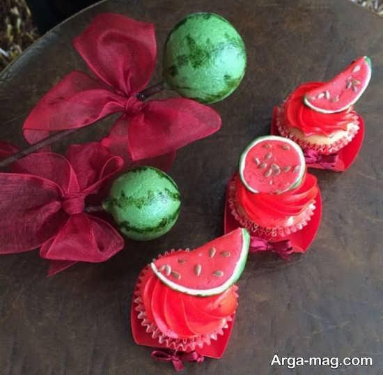 کاردستی زیبا هندوانه برای شب یلدا