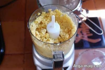 میکس کردن برنج و لپه در غذاساز