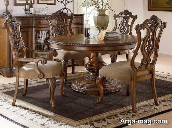 میز ناهخار خوری چوبی با طراحی مدرن