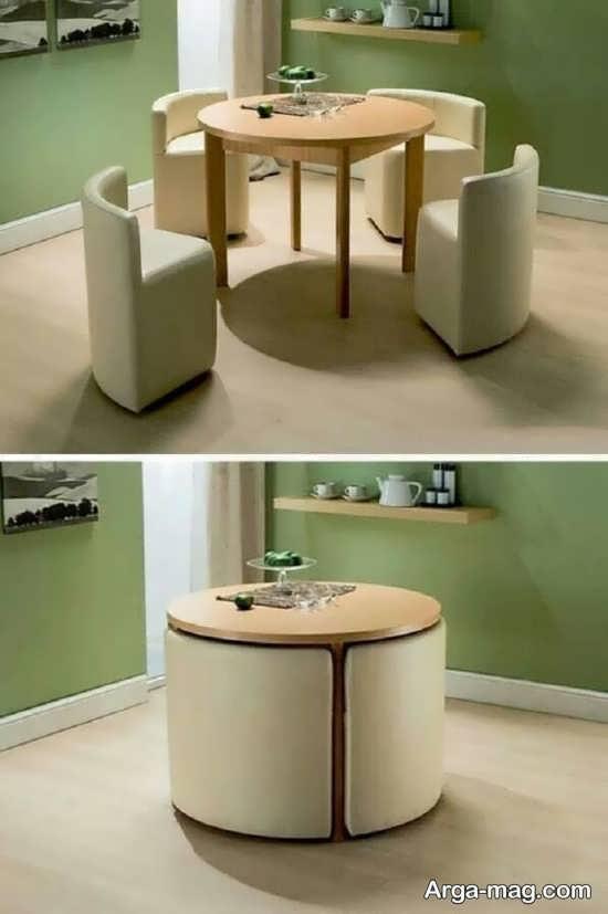 میز ناهار خوری مناسب فضای کوچک
