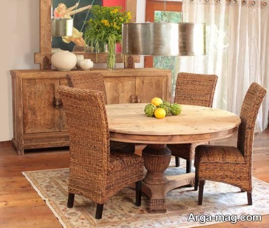 میز و صندلی ناهار خوری گرد