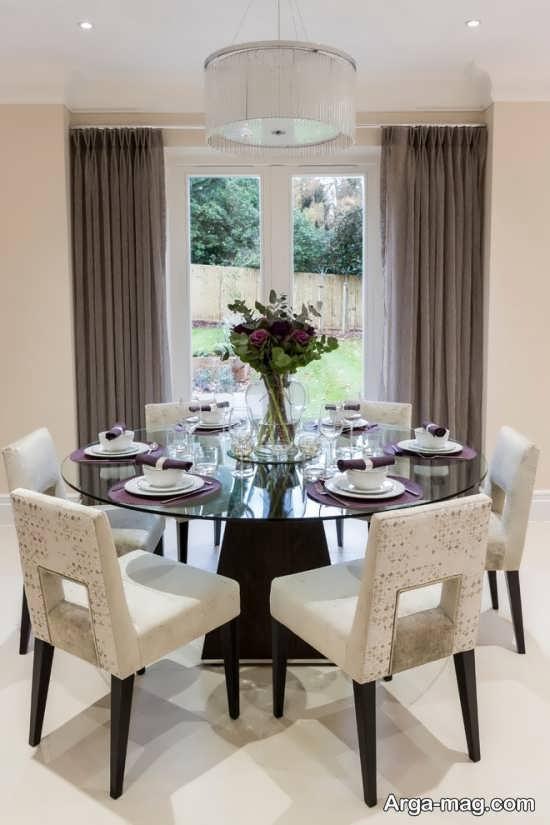 میز ناهار خوری راحتی و گرد
