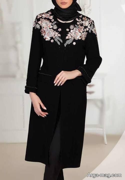 مدل مانتو مشکی و زیبا 2018