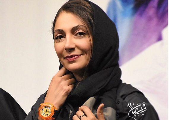 عکس های همسر امین حیایی در اکران خصوصی فیلم آینه بغل