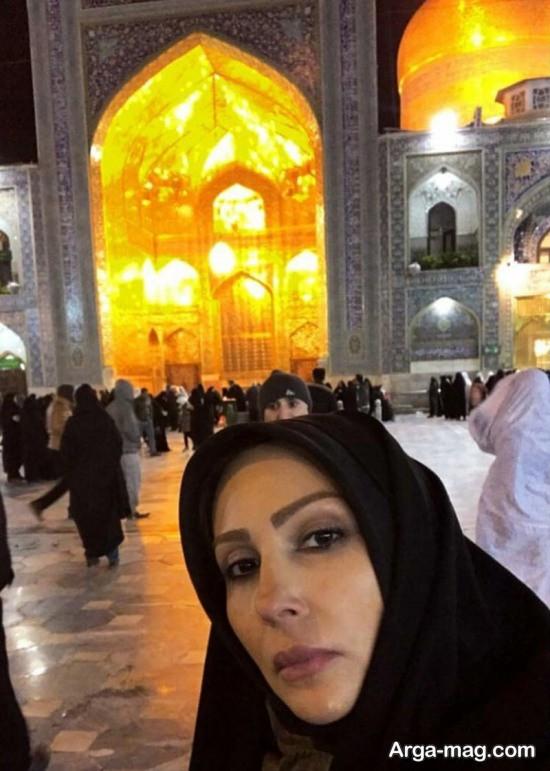 پرستو صالحی با حجاب کامل