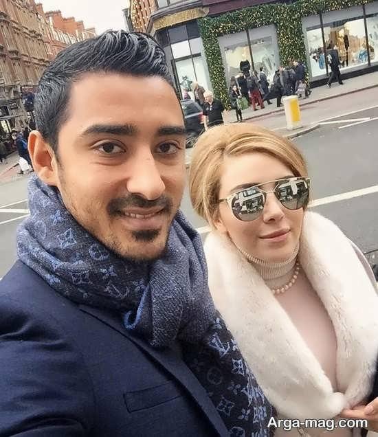 عکس از سروین بیات و همسرش رضا