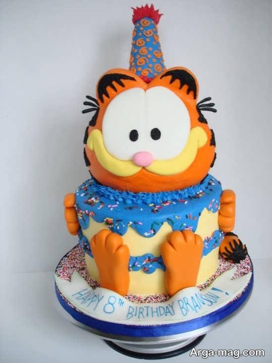 کیک تولد با تم گارفیلد