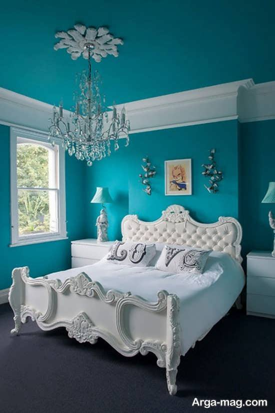 تخت خواب سلطنتی سفید