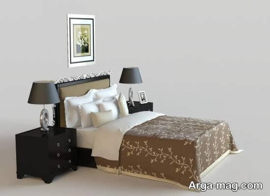 تخت خواب ساده و کلاسیک