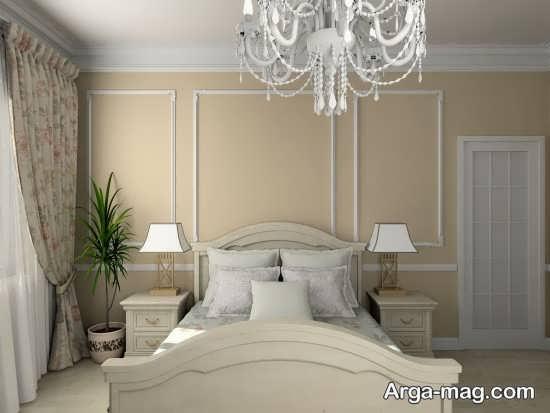 تخت خواب سفید و لوکس
