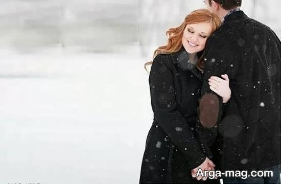 ژست عکس در برف