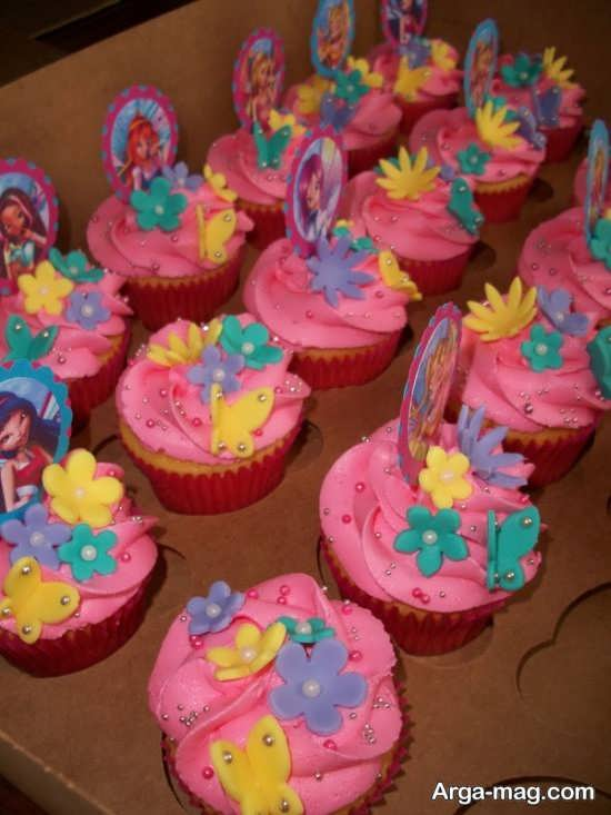 کاپ کیک تولد با تم وینکس