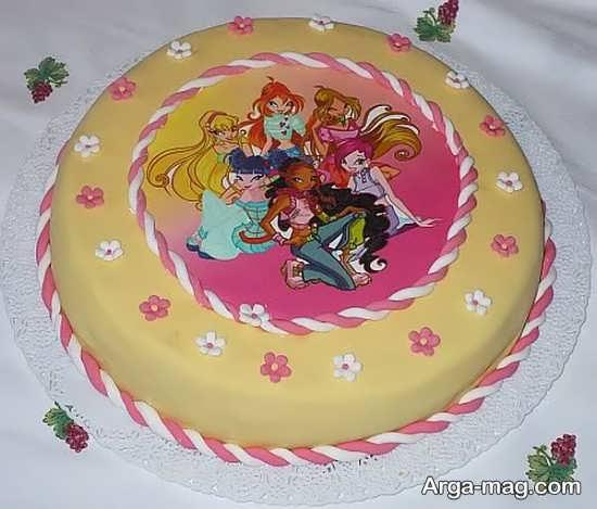 تزیین زیبای کیک با تم وینکس