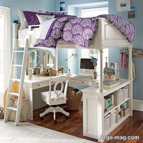 ایده مدرن طراحی اتاق با فضای کم