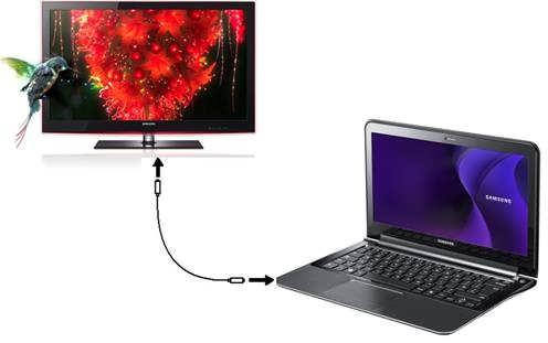 اتصال لپتاپ به تلویزیون