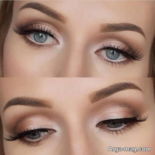 مدل آرایش چشم لایت و زیبا