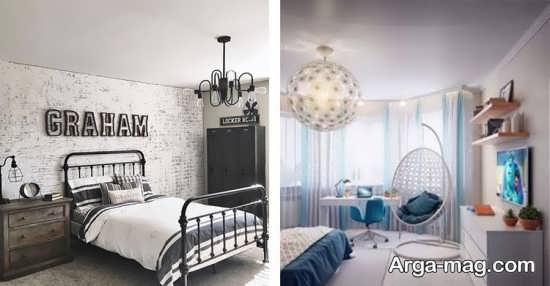 مدلی زیبا از لوستر اتاق خواب