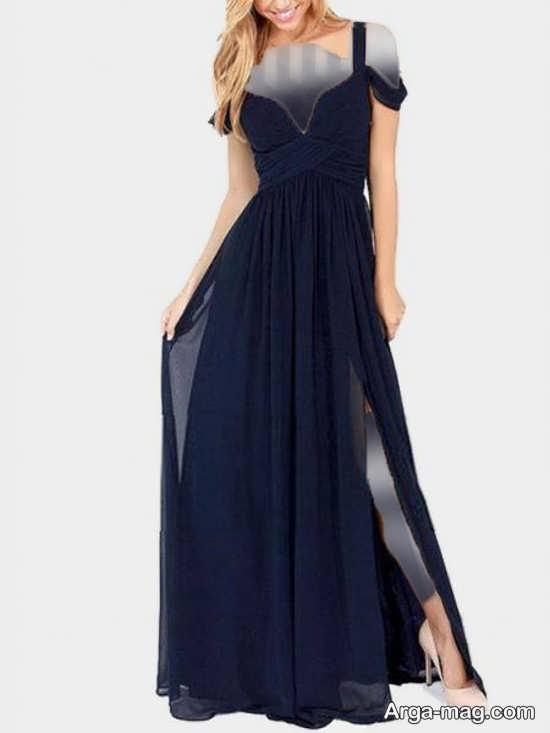 Blue dress 1 - انواع لباس مجلسی آبی رنگ برای خانم های شیک پوش