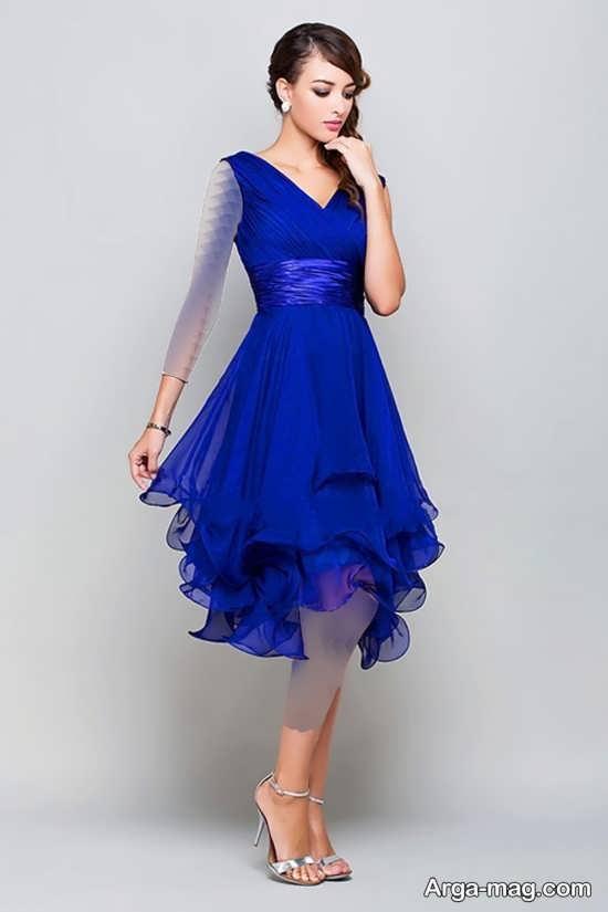 Blue dress 10 1 - انواع لباس مجلسی آبی رنگ برای خانم های شیک پوش