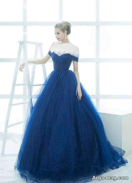 Blue dress 11 - انواع لباس مجلسی آبی رنگ برای خانم های شیک پوش