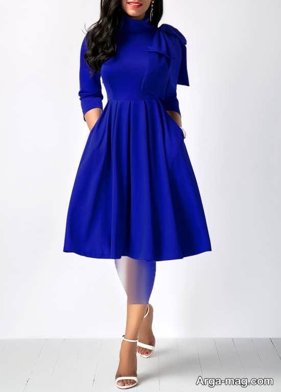 Blue dress 12 - انواع لباس مجلسی آبی رنگ برای خانم های شیک پوش