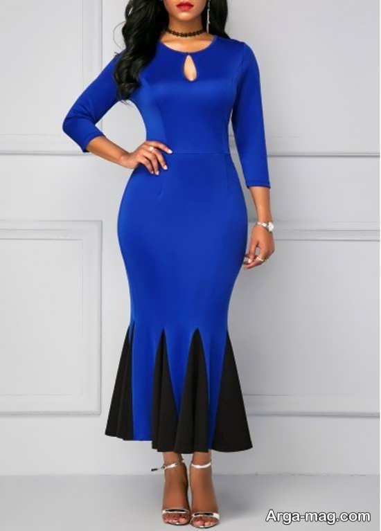 Blue dress 14 - انواع لباس مجلسی آبی رنگ برای خانم های شیک پوش