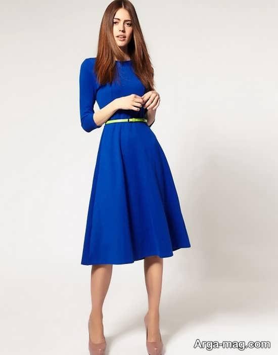 Blue dress 15 - انواع لباس مجلسی آبی رنگ برای خانم های شیک پوش