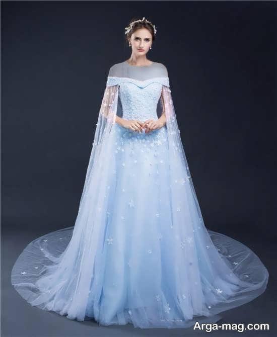 Blue dress 16 - انواع لباس مجلسی آبی رنگ برای خانم های شیک پوش