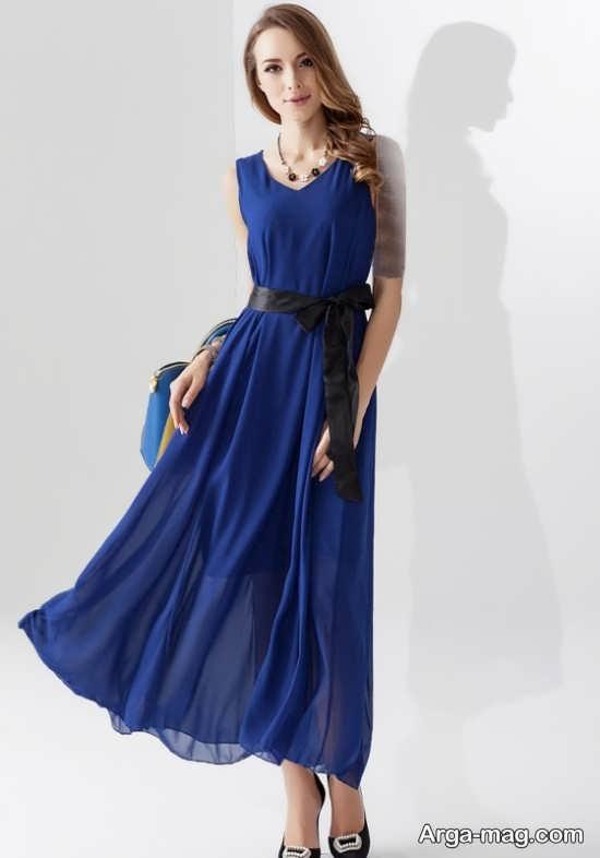 Blue dress 17 - انواع لباس مجلسی آبی رنگ برای خانم های شیک پوش