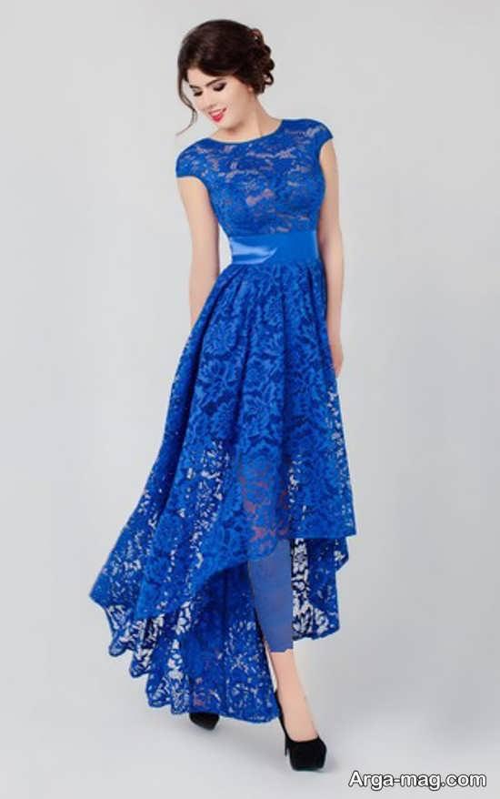 Blue dress 18 - انواع لباس مجلسی آبی رنگ برای خانم های شیک پوش