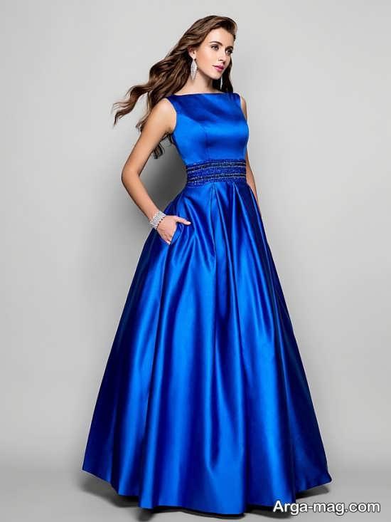 Blue dress 2 - انواع لباس مجلسی آبی رنگ برای خانم های شیک پوش