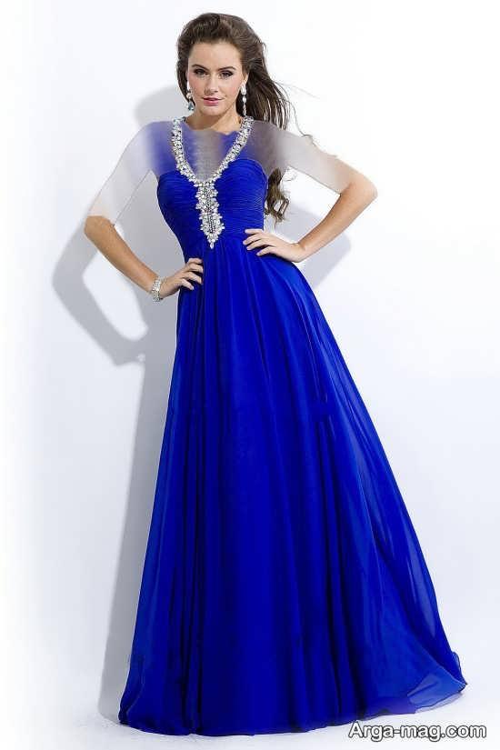 Blue dress 20 - انواع لباس مجلسی آبی رنگ برای خانم های شیک پوش