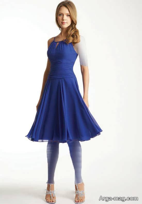 Blue dress 3 - انواع لباس مجلسی آبی رنگ برای خانم های شیک پوش