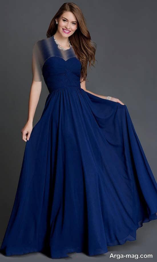 Blue dress 4 - انواع لباس مجلسی آبی رنگ برای خانم های شیک پوش