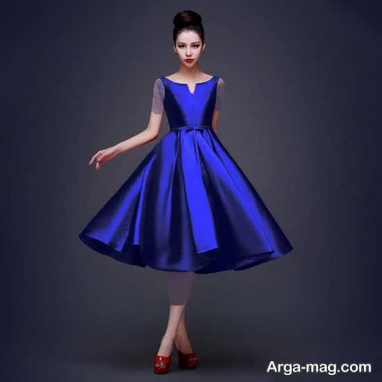 Blue dress 7 - انواع لباس مجلسی آبی رنگ برای خانم های شیک پوش