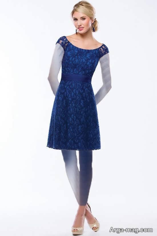 Blue dress 8 - انواع لباس مجلسی آبی رنگ برای خانم های شیک پوش