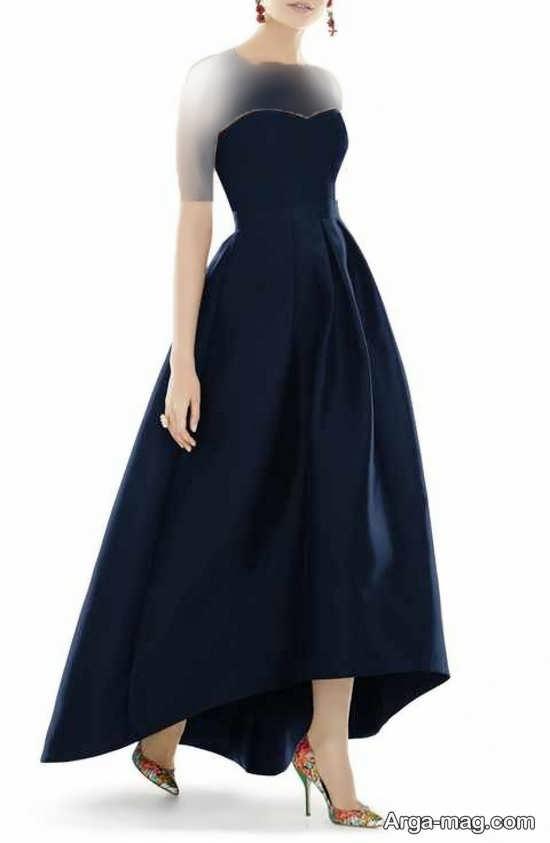 Blue dress 9 - انواع لباس مجلسی آبی رنگ برای خانم های شیک پوش