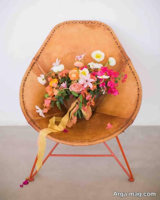 تزیین شیک دسته گل عروس