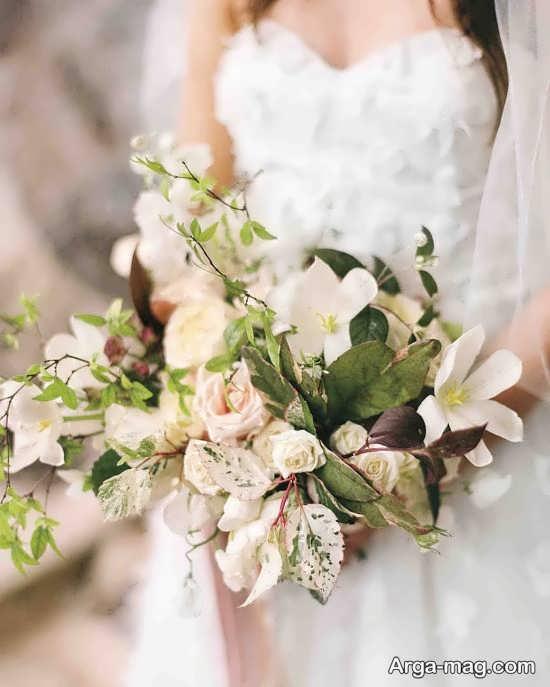 تزیین زیبای دسته گل عروس