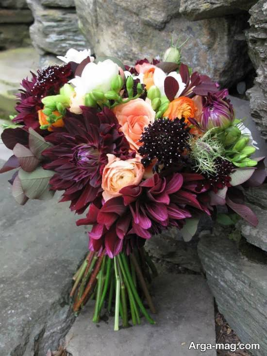 دسته گل طبیعی عروس