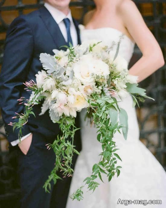 تزیین دسته گل عروس