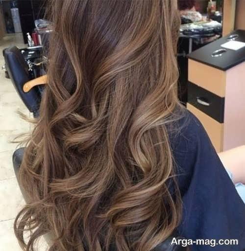 رنگ موی شکلاتی روشن