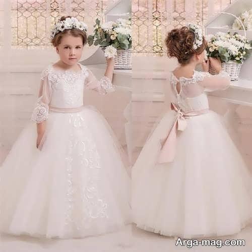 مدل لباس عروس بچه گانه جذاب و زیبا