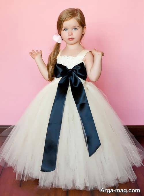 مدل لباس عروس پرنسسی بچه گانه
