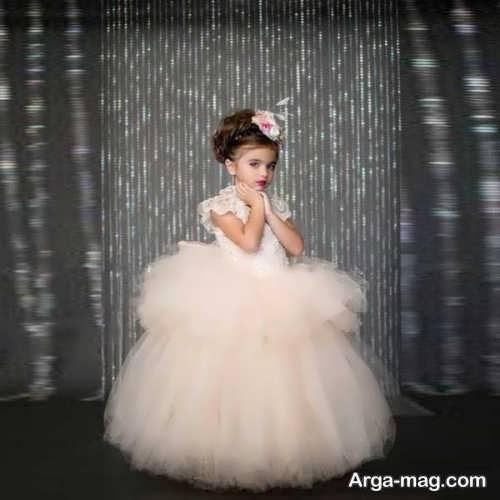 مدل لباس عروس بچه گانه پرنسسی شیک و جذاب